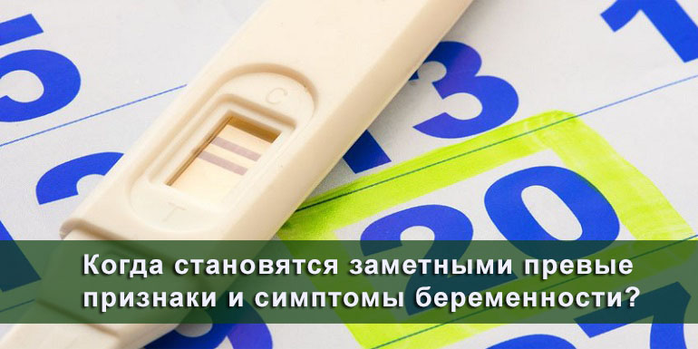 Когда заметны первые признаки беременности