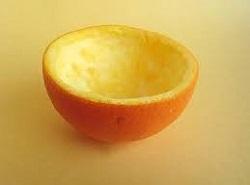 Чаша из апельсиновой корки