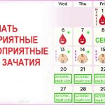 Благоприятные и безопасные дни для зачатия