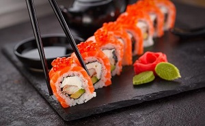 Суши Нинири с лососем