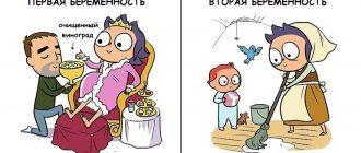 Сравнение первой и второй беременности