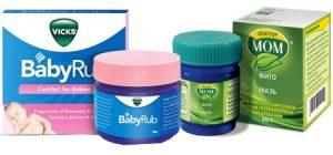 Мази от простуды для детей