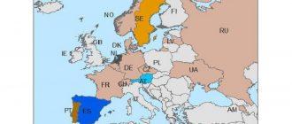 Карта ограничений на выкидыш по запросу в Северной Европе