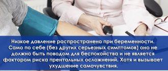 Измерение давления у беременной женщины