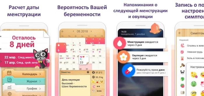 Женский календарь приложение