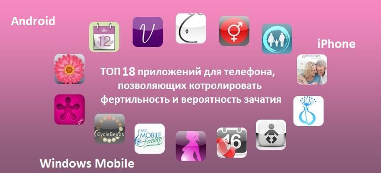 Топ 18 приложений для телефона, чтобы контролировать фертильность