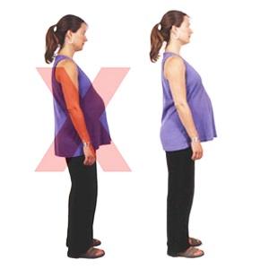 Правильная осанка при беременности