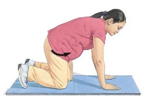 Упражнение вращения тазом при беременности
