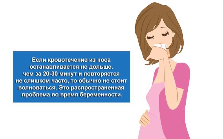 Кровь из носа у беременной