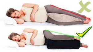 Правильное положение лежа при беременности