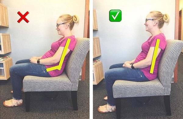 Правильно сидеть на стуле при беременности