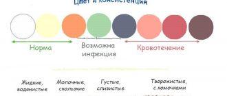 Различные цвета и консистенция влагалищных выделений при беременности