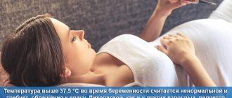 Повышенная температура тела у беременной женщины