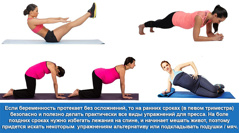 Безопасные и опасные упражнения для пресса при беременности
